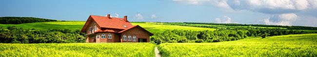 Zdjęcie krajobrazu zdomem domu. Problem zkominem Olsztyn