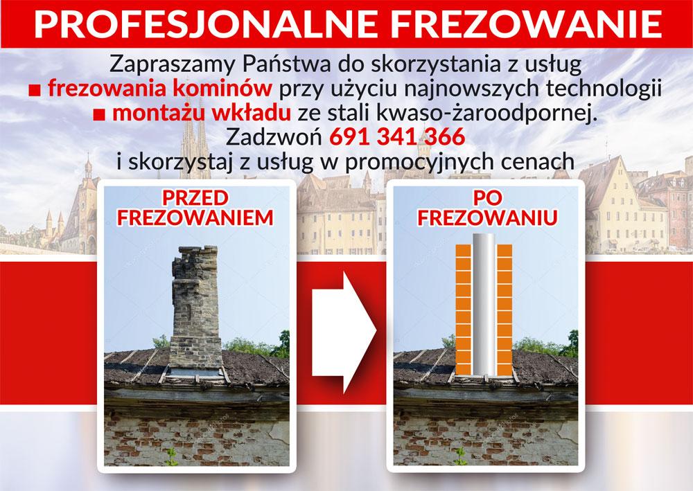 Profesjonalne frezowanie kominów Olsztyn, Lubelska